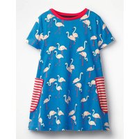 Colourful Printed Tunic Blue Girls Boden, Blue
