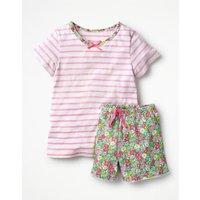 Pretty Jersey Pyjamas Pink Girls Boden, Pink
