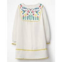 Pretty Embroidered Kaftan Ivory Girls Boden, Ivory