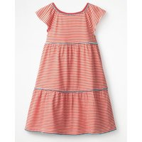 Tiered Jersey Frill Dress Orange Girls Boden, Orange