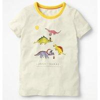 Fun Detail T-shirt Ivory Girls Boden, Ivory