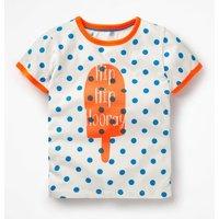 Bright Print T-shirt Blue Girls Boden, Blue