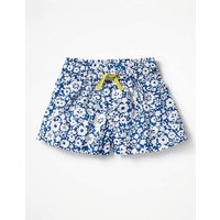 Pretty Woven Culottes Blue Girls Boden, Blue