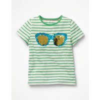 Sunny Colour-change T-shirt Green Girls Boden, Green