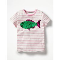 Sunny Colour-change T-shirt Pink Girls Boden, Pink