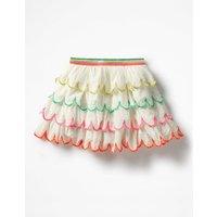 Rainbow Scallop Skirt Ivory Girls Boden, Ivory