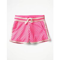 Easy Jersey Shorts Pink Girls Boden, Ivory