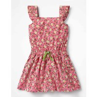 Pretty Culotte Playsuit Pink Girls Boden, Pink