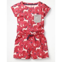 Colourful Jersey Playsuit Pink Girls Boden, Pink