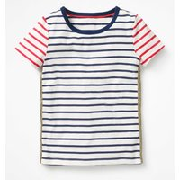 Imelda T-Shirt Navy Girls Boden, Navy
