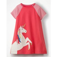 Unicorn Applique Jersey Dress Pink Girls Boden, Pink
