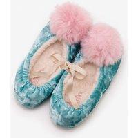 Pompom Slippers Green Girls Boden, Blue