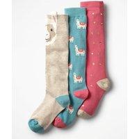 3 Pack Knee-high Socks Pink Girls Boden, Pink