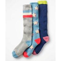 3 Pack Ski Socks Multi Girls Boden, Multicouloured