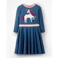 Colour-change Sequin Dress Navy Girls Boden, navy