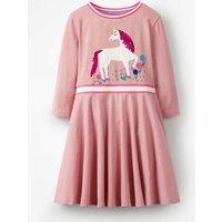 Colour-change Sequin Dress Pink Girls Boden, Pink