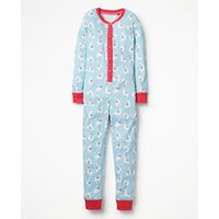Cosy All-in-one Pyjamas Blue Girls Boden, Blue