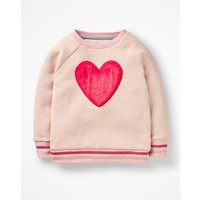Fluffy Graphic Sweatshirt Pink Girls Boden, Pink