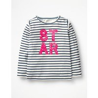 Party Graphic T-shirt Navy Girls Boden, Navy