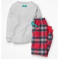 Woven Pyjama Set Red Girls Boden, Blue