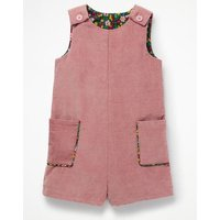 Chunky Cord Playsuit Pink Girls Boden, Pink