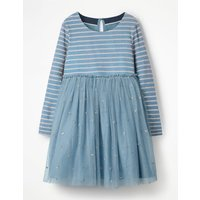 Sparkly Spot Party Dress Blue Girls Boden, Blue