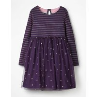 Sparkly Spot Party Dress Purple Girls Boden, Purple