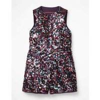 Sequin Playsuit Multi Girls Boden, Multicouloured