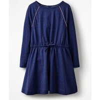 Tie-waist Jersey Swing Dress Navy Girls Boden, Navy
