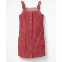 Jumbo Cord Pinafore Dress Red Girls Boden, Red