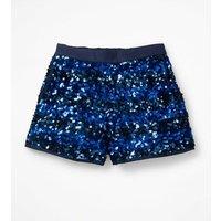 Sequin Shorts Blue Girls Boden, Blue