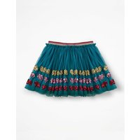 Appliqué Tulle Skirt Blue Girls Boden, Blue