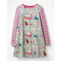 Jersey Swing Dress Grey Girls Boden, Grey