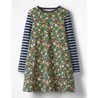 Jersey Swing Dress Multi Girls Boden, Navy