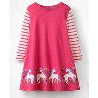 Unicorn Appliqu © Tunic Pink Girls Boden, Pink