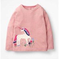 Unicorn Flutter T-shirt Pink Girls Boden, Pink
