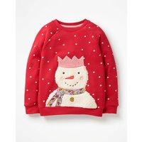 Fluffy Friends Sweatshirt Red Girls Boden, Red