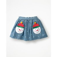 Fun Pocket Skirt Blue Girls Boden, Blue