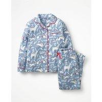 Festive Pyjama Set Blue Girls Boden, Blue