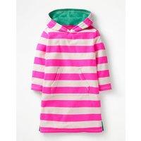 Stripy Towelling Beach Dress Pink Girls Boden, Ivory