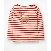 Bold and Bright Breton Red Girls Boden, Ivory