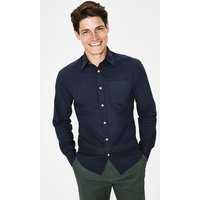 Poplin Shirt Navy Men Boden, Navy
