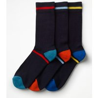 Chunky Weekend Socks Navy Men Boden, Navy
