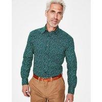 Boden Printed Twill Shirt Green Men Boden, Green