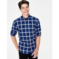 Casual Twill Shirt Blue Men Boden, Blue