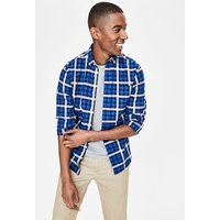 Slim Fit Casual Twill Shirt Blue Men Boden, Blue