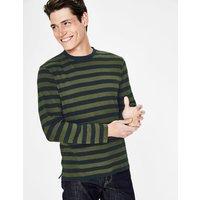 Boden Long Sleeve Stripe T-shirt Green Men Boden, Green