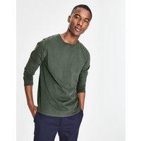 Boden Long Sleeve Washed T-shirt Green Men Boden, Green