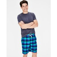 Brushed Cotton Lounge Shorts Green Men Boden, Blue
