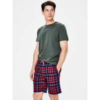 Brushed Cotton Lounge Shorts Red Men Boden, Multicouloured